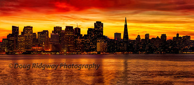 San Francisco Twilight<br /> Taken from Treasure Island