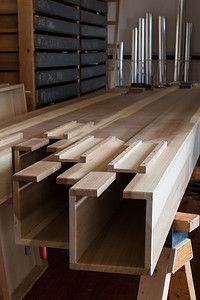 Tops of 16' Wood Pipes