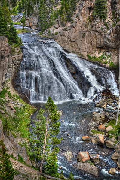 Gibbon Falls, Yellowstone, WY-1239