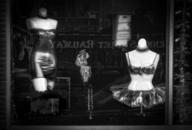 Window Shopping-bw, Cheyenne, WY