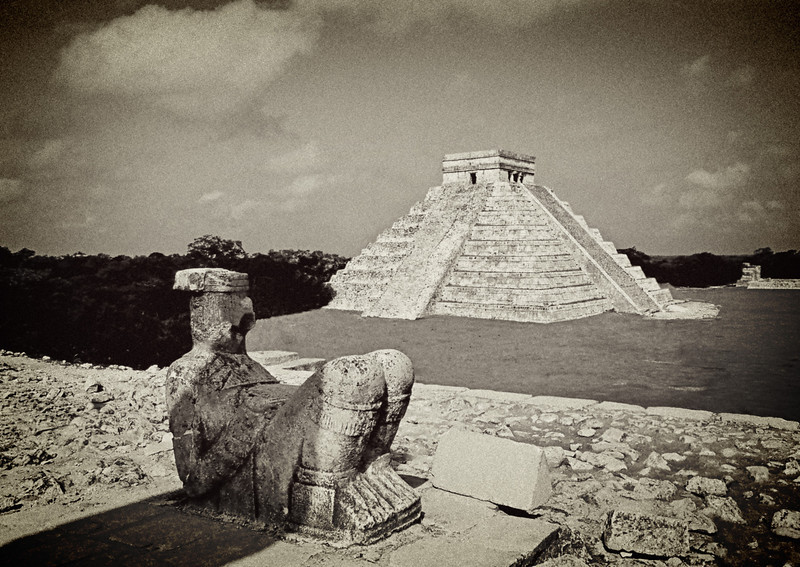 Chac Mool & Temple of Kukulcan, Chichen Itza