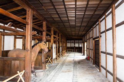 Interior of the Umeya, stable.