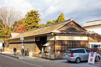 The exterior of the Umeya, horse stable.