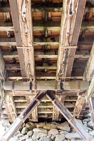 Underside of the Rokabashi bridge showing construction details.