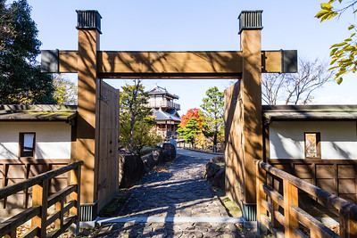 A reconstructed Kabukimon type gate. This type of gate had only a formal use because for defense it was totally useless.