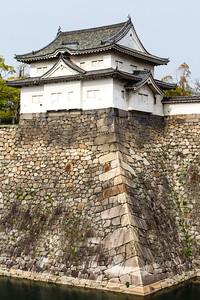 Sengan Yagura two story turret and moat walls