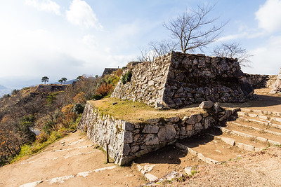 The foundations of the Otemon main gateway.