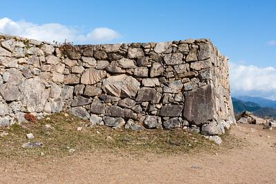 Stone wall surrounding the tenshu.
