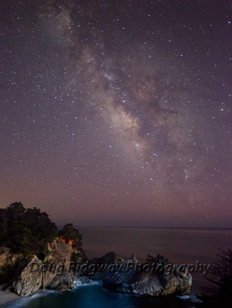 The Milky Way at McWay Falls