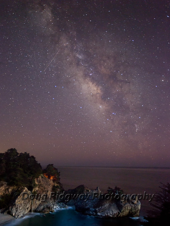 The Milky Way at McWay Falls