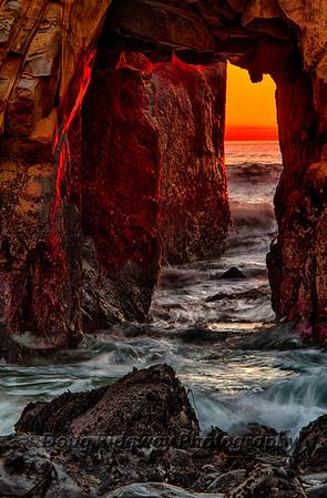 Last Light at the Golden Arch, Pfeiffer Beach