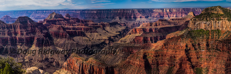 Grand Canyon Panorama From Bright Angel Point