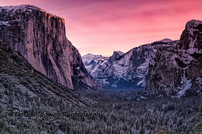 Pink Light From Tunnel View