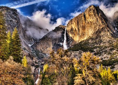 Upper and Lower Yosemite Falls