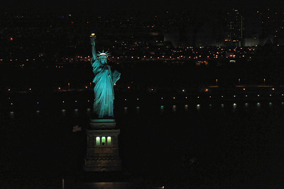 Lady Liberty, chopper shot