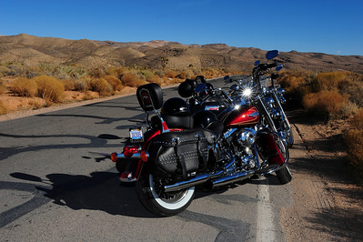 Harley riding, Red Rock, Las Vegas Nevada