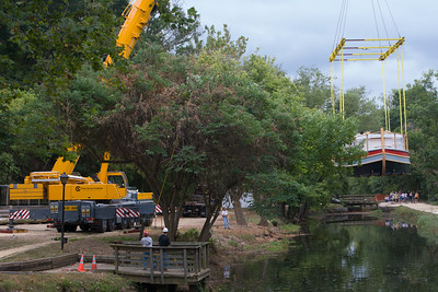 Lowering the Mercer Into the Canal