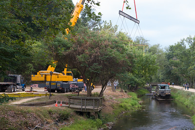 Crane Preparing to Lift Out the Canal Clipper III