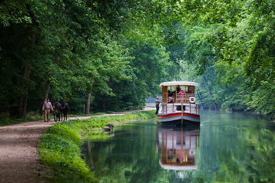 """""""Charles F. Mercer"""" Canal Boat Above Lock 20"""