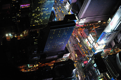 Times Square, NY NY, from our chopper
