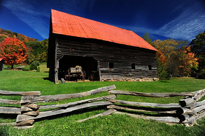 Old Barn, fall, North Carolina Mountains