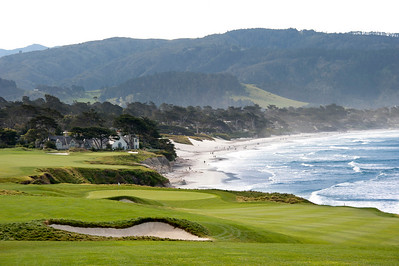 hole #8 and 9 Pebble Beach golf course