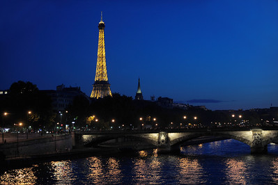 Nightfall Paris France