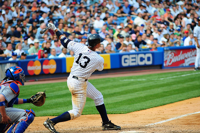Alex Rodriguez goes deep. one of his 600 plus long balls