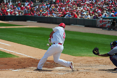 Albert Pujols goes deep. Yes, this ball left the yard !