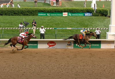 Kentucky Derby, 2007, Street Sense winning.