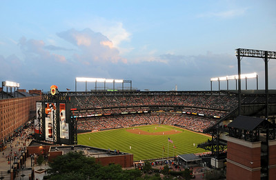 Oriole Park at Camden Yards - View from Hilton Hotel Suite 8th floor