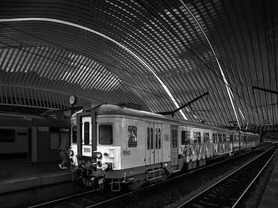 Older Train with Graffiti