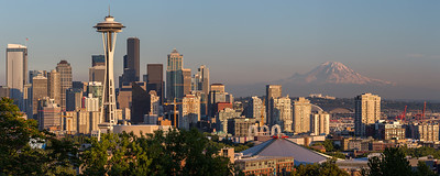 Space Needle and Mt. Ranier from Kerry Park