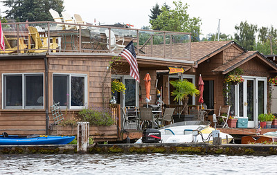 Houseboats Along the Eastern Shore # 7