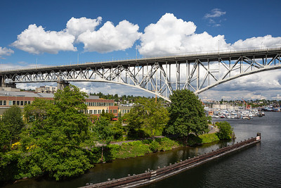 Aurora Bridge and Freemont Shore