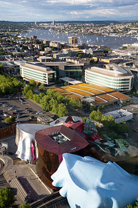 Museum of Pop Culture (MoPOP) and Lake Union