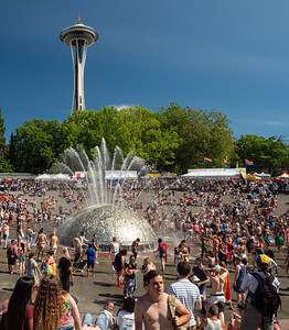 International Fountain and Space Needle