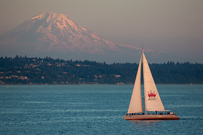 Mt. Ranier from Elliott Bay