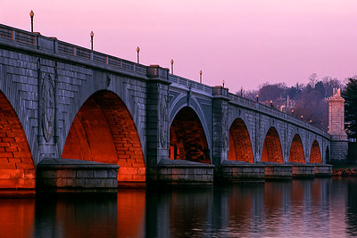 Arlington Memorial Bridge at Dawn