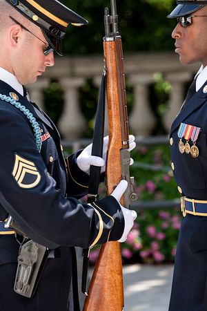 Honor Guard Weapon Inspection at Tomb of the Unknown Soldier