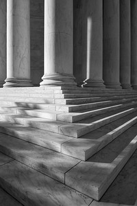 Jefferson Memorial's Steps and Columns