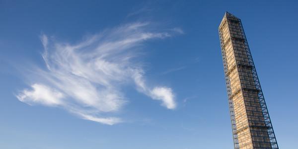 Washington Monument and the Pteradactyl