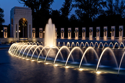 Fountain after Sunset