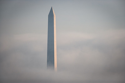 Washington Monument in Early Morning Fog # 1