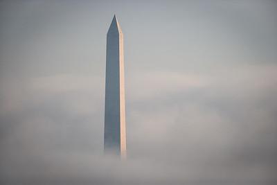 Washington Monument in Early Morning Fog # 1