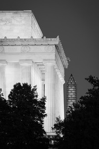 Lincoln Memorial and Washington Monument Under Restoration