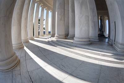 A Curved Jefferson Memorial