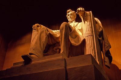 Lincoln Memorial Under Old Lights