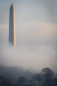 Washington Monument in Early Morning Fog # 2