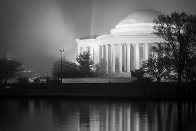 Jefferson Memorial on a Misty Dawn